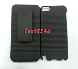 Wholesale Clip belt stand holster hard plastic Case kickstand skin cases For Ipod touch itouch G TH th PC holster combo Cover