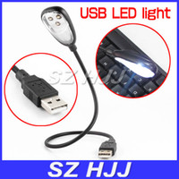 Wholesale USB LED Light Clip on Lamp Bulb with Flexible Arm for Notebook Taptop PC Computer