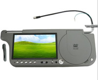 Wholesale 7 inch Sun visor DVD Monitor with FM quot Auto Car Sun Visor Mount Gray Monitor DVD Player with AV FM Game Right OK