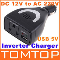 Wholesale Car inverter charger Power adapter W Car Power Inverter Charger DC V to AC V USB V K346