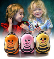 Backpacks bee luggage - Cute Cartoon Little Bee Design Children Trolley Bag Case Lovely Kids School Luggage