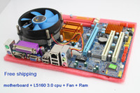 Wholesale cheapest G41 xeon dual core CPU G L5160 pc motherboard with ddr3 ram and Fan compo Mainboard