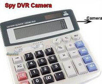 Wholesale spy Pinhole Calculator mini Camera DVR AVI USB with GB Memory sample China post