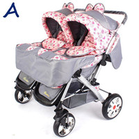 Strollers baby pram - Twins Stroller Baby portable pram prams baby Travel carriage buggy baby strollers ZGC30109
