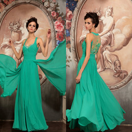 Wholesale Aqua spaghetti straps beading long prom dress evening dress ball gown party dress