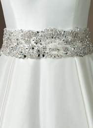 Wholesale 2013 Hot selling Shining Newest Crystals Beaded wedding bridal dress belt sashes accessory Z