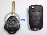 Wholesale for Toyota Camry car modified folding button remote Key replacement shell