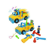 Wholesale Hot sale plastic toy multifunctional tool truck disassembly electronic toy car children toys