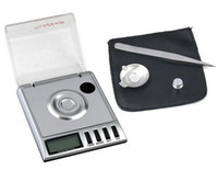 Wholesale 5pcs g g Mini LCD Digital Scale Diamond Pocket Digital Jewelry precision measure Digital Milligram scales Freeshipping