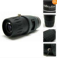 Wholesale New compact Zoom Mini Monocular Telescope X18mm Black for camping survival