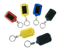 Wholesale Led Mini Outdoor Solar Powerful Flash Light Keychain Solar Flashlight Gift Torch