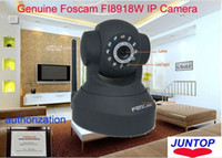 Wholesale Genuine Foscam FI8918W IP Camera Wireless CCTV Webcam Black WPA Wireless WiFi Pan Tilt