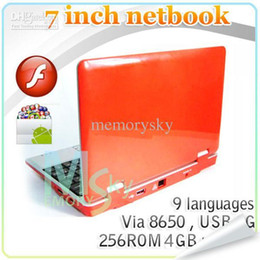 Wholesale 7 Tablet PC Android Netbook VIA Yotube MB GB Laptop HD WIFI USB G Best seller