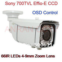Wholesale Waterproof TVL EFFIO E SONY Exview CCD mm Zoom Lens IR LED Security CCTV Camera