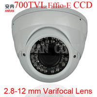 Wholesale 700TVL EFFIO E quot SONY CCD Waterproof IR Metal Dome CCTV Camera mm Varifocal Lens