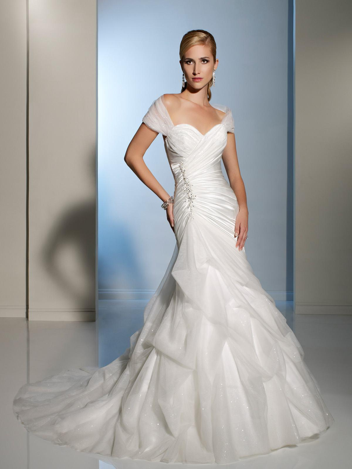 2013 Spring Garden White Mermaid Wedding Dresses f