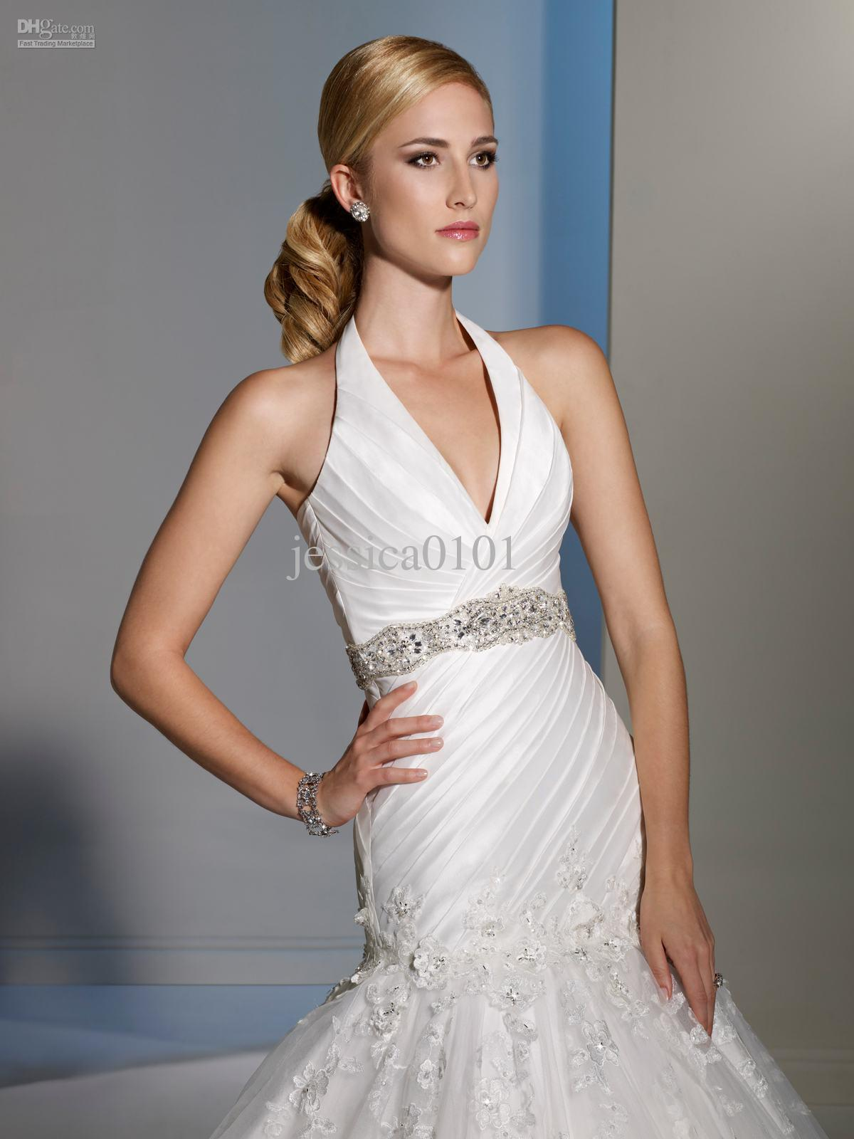 Mermaid style halter wedding dresses dress on sale mermaid style halter wedding dresses ombrellifo Image collections
