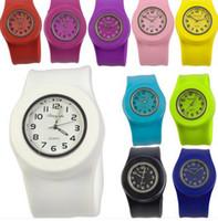 Fashion Fashion Slap On Snap Silicone Rubber Sport Wrist Wat...