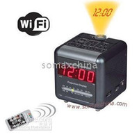 Wholesale spy Hot Mini Projector Internet Ready iSpy Hidden Camera Clock HD camera