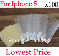 Wholesale for iphone5 clear Screen Protector For NEW iphone LCD Screen Without Retail Package
