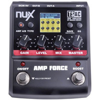 Wholesale NUX Stomp Boxes Amp Force Modeling Amp Simulator Guitar Effects Modeling Amplifier Models Pedal