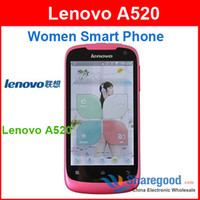 Wholesale Android G Mtk6573 Phones Original Lenovo A520 phone Unlocked Mobile Phone For Women free shippi
