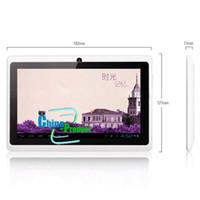 7 pouces A13 tablette PC Q88 double caméra écran capacitif 512M 4 Go de soutien externe modem 3G 10pcs / lot