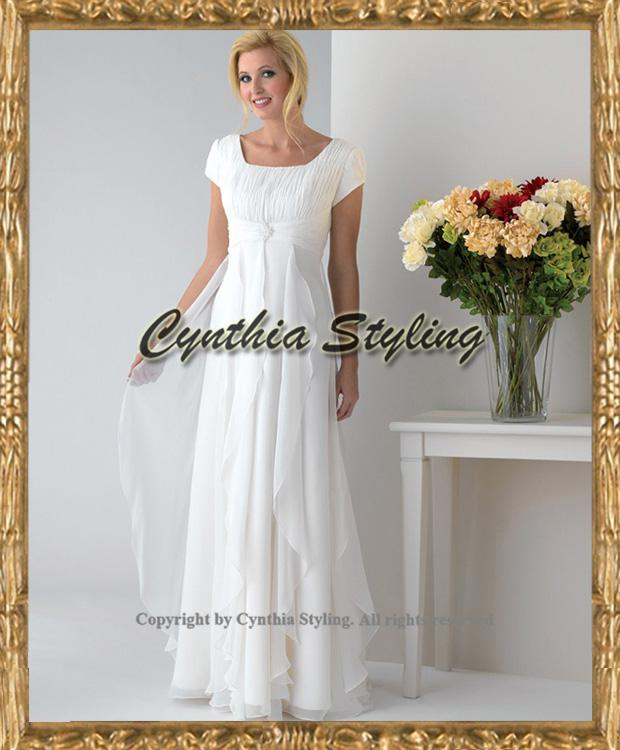 Discount simple short sleeves ruched beaded plus size for Destination plus size wedding dresses