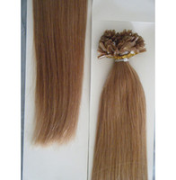 Wholesale bulk stock g g s Indian remy Nail U tip hair extensions quot quot quot quot black brown blonde Fast shipping