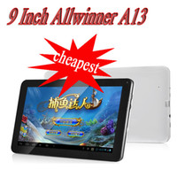 Wholesale 9 quot Allwinner A13 Android Tablet PC GHz GB Capacitive Screen Camera support MID Flytouch