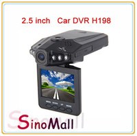 Wholesale 2 Car DVR H198 night version Car Video Recorder Camera IR LED CarDVR with good quality