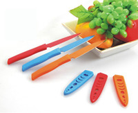 Wholesale Colorful Fruit Knife Multifunction Sharp Cutter Melon Knives Stainless Steel Tableware