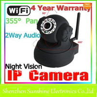 Wholesale Wireless WIFI IP Camera Webcam Night Vision LED IR Dual Audio Foscam
