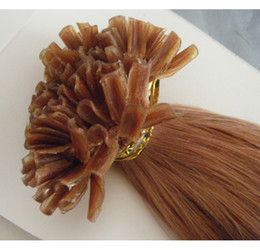 Wholesale 100g g s Indian remy Human Keratin Nail U tip hair extensions quot quot quot quot in stock