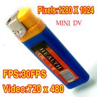 Wholesale Spy Lighter Camera MINI DV DVR Camcorder pinhole camera Hidden Camera sound activation Audio Video Recorder
