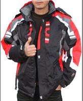 Wholesale Men ski suits camping hiking coats ski jackets outdoor spydr jackets outwear black low price