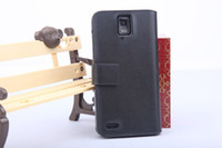Wholesale 20pcs Wallet Doormoon Genuine Leather Case Cover For Huawei Ascend D1 Quad U9510