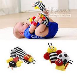 Promotion chaussettes lamaze hochet Lamaze poignet chancelière pied finder, bébé jouet poignet hochet + pied chaussette, enfant en bas âge Peluche jouets