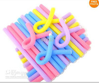 Wholesale Bendy Curlers flexi Rod Foam Hair Dressing styling Bendy Curly Rollers