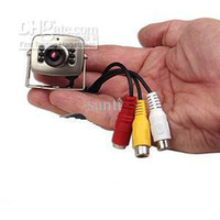 Wholesale Mini CCTV Security Camera Cmos Color Digital Video audio with microphone w adapter
