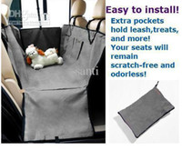 Wholesale New Pet Dog Car Seat Cover Waterproof Hammock Grey purple green