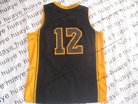 Wholesale 2013 Black Yellow Line Basketball Jerseys Stitched Sportswear Jersey Size