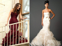 Wholesale XOXO Gossip Girl Queen B Stunning Mermaid Celebrity Dress Designer V W Pageant Formal Bridal Gown