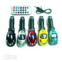 Wholesale Car MP3 Player Wireless FM Transmitter USB SD MMC Slot NEW Digital Egg Car MP3 Player