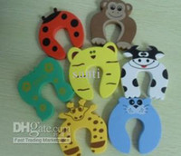 baby gates - Cute Baby Door Stopper Safety Finger Pinch Guard Protector Baby safety gate card Animal model