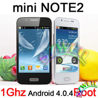 Wholesale Mini Note Cell phone android GHZ WIFI Support Root Dual Sim Quad band