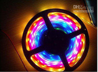 Holiday led ic - Dream color led M Roll RGB LED Strip With HL1606 IC SPI functions controller Free Adapter