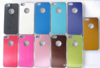 For Apple iPhone apple iphone 5g price - Best price Aluminum Metal Brush Hard Back Case Cover Skin For Apple iphone G
