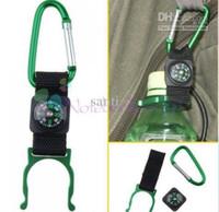 Wholesale Multifunction Compass Carabiner Water Bottle Buckle Aluminum Climbing Camp Locking Carabiner Holder