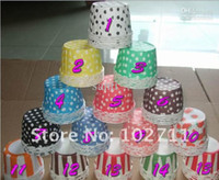 Wholesale Paper Dots Strips patterns muffin cases cake cups cupcake cases bake cup cupcake wrappers